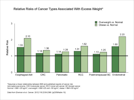 obesity and cancer risk Women in the group with the largest waists had a similarly high risk of death from cancer or any cause larsson b, svardsudd k, welin l, wilhelmsen l, bjorntorp p, tibblin g abdominal adipose tissue distribution, obesity, and risk of cardiovascular disease and death: 13 year follow up of.