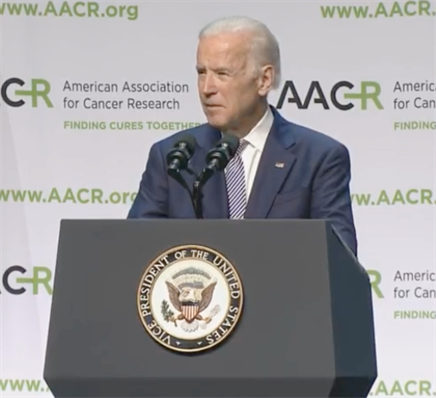 VP Joe Biden Discusses Barriers to Cancer Research at AACR Annual Meeting