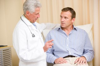 Findings seen in economically disadvantaged men with newly diagnosed prostate cancer.