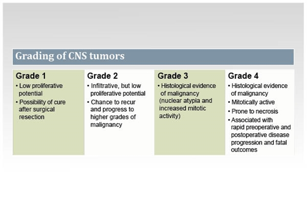 Grading of CNS tumors