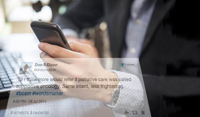 Twitter is a great way for oncology professionals to interact with their peers and patients.