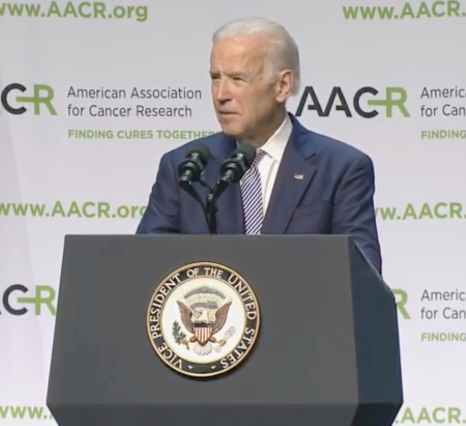 Vice President Joe Biden said that improved data sharing, recruiting more patients into clinical trials, and streamlining the research grants process are needed to win the war on cancer.
